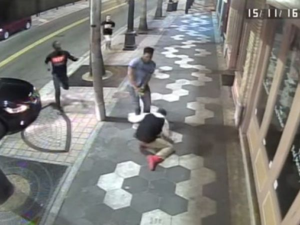 Video shows fight in Ybor, auto crashing into bar