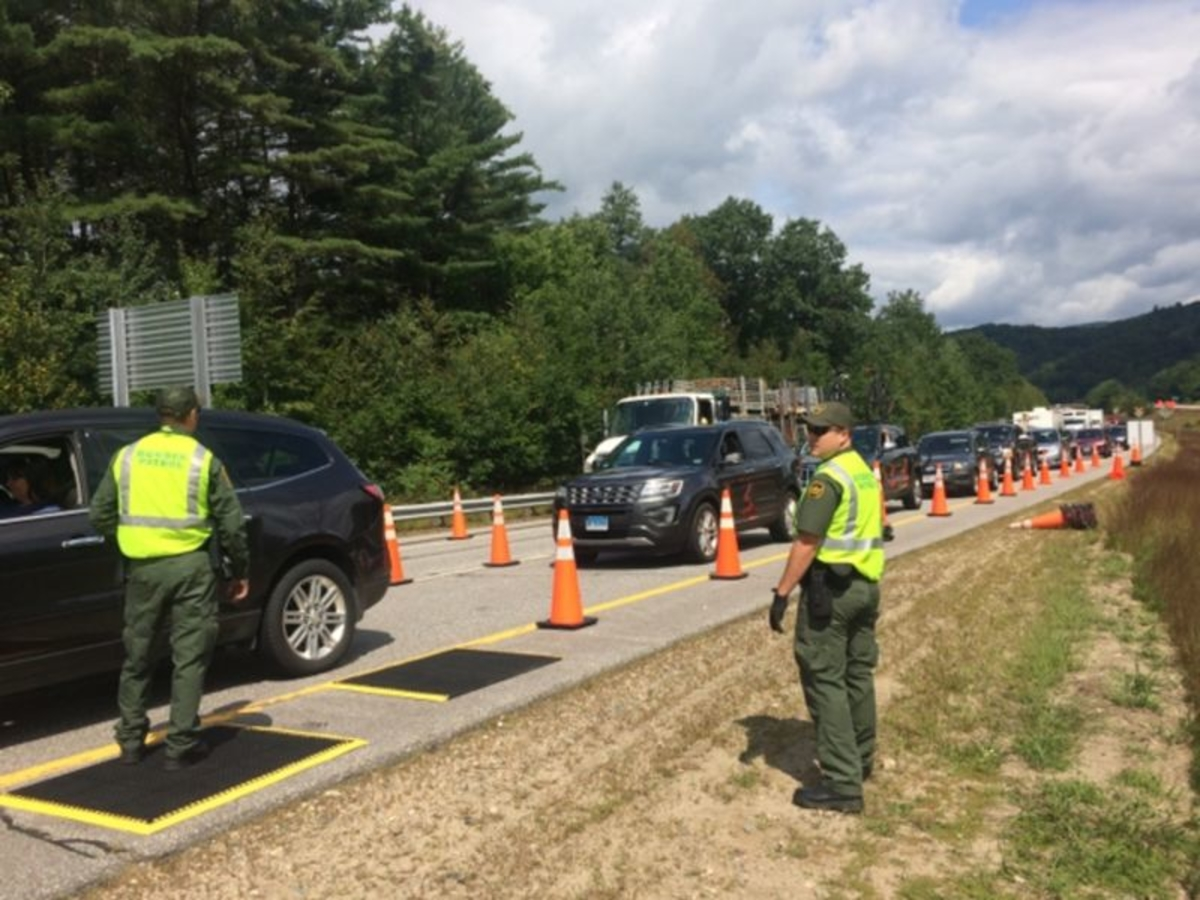 Immigration Checkpoint On Major New Hampshire Highway