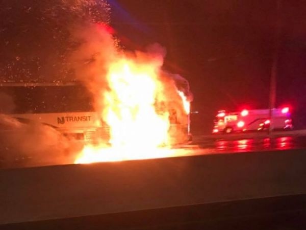 NJ Transit Bus Catches Fire On Route 23