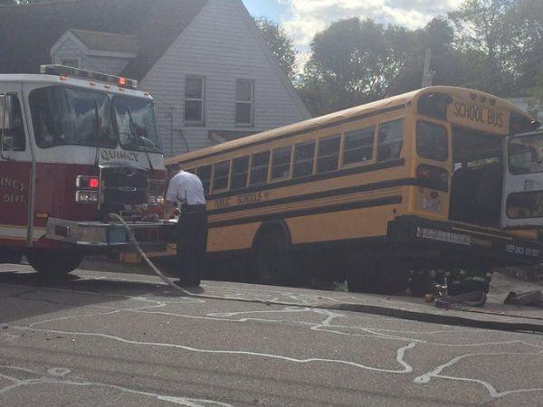 5 children, 2 adults hurt in Massachusetts school bus crash