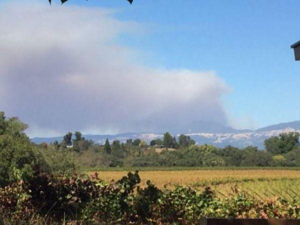 California blaze burns aggressively across steep terrain