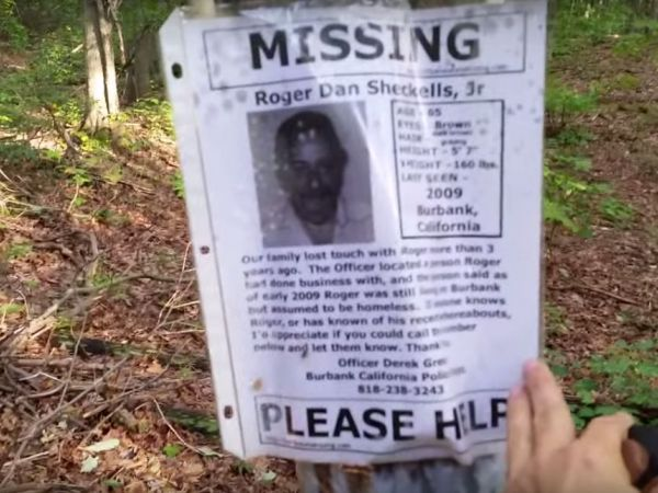 Man finds eerie missing person 'shrine' in New York woods