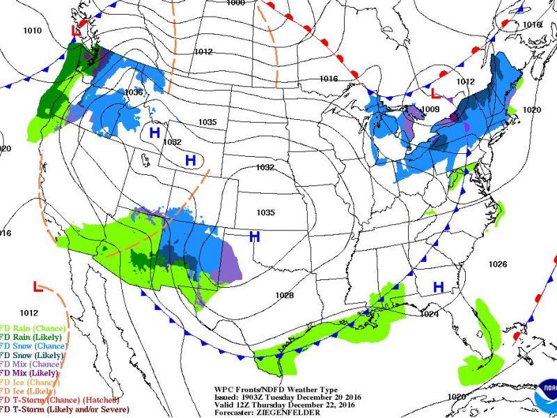 Thu Map Ri Weather Snow Rain Showers Thursday White Christmas