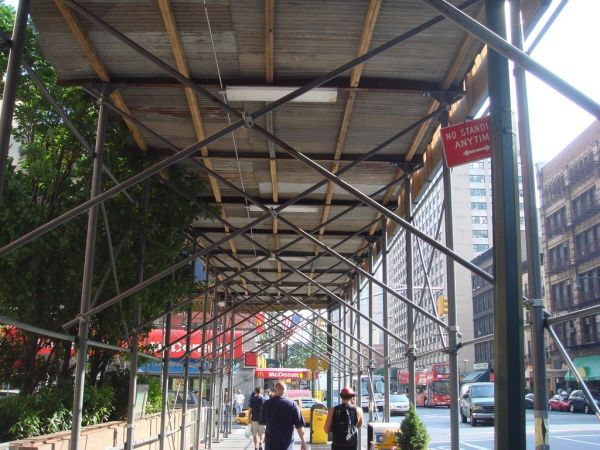 Council May Liberate NYC Streets From the Blight of Ever-Lasting Scaffolding