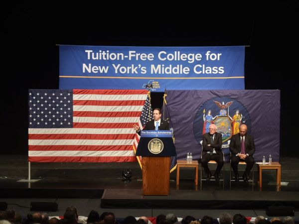 New York Governor Andrew Cuomo Announces Free College Plan With Bernie Sanders
