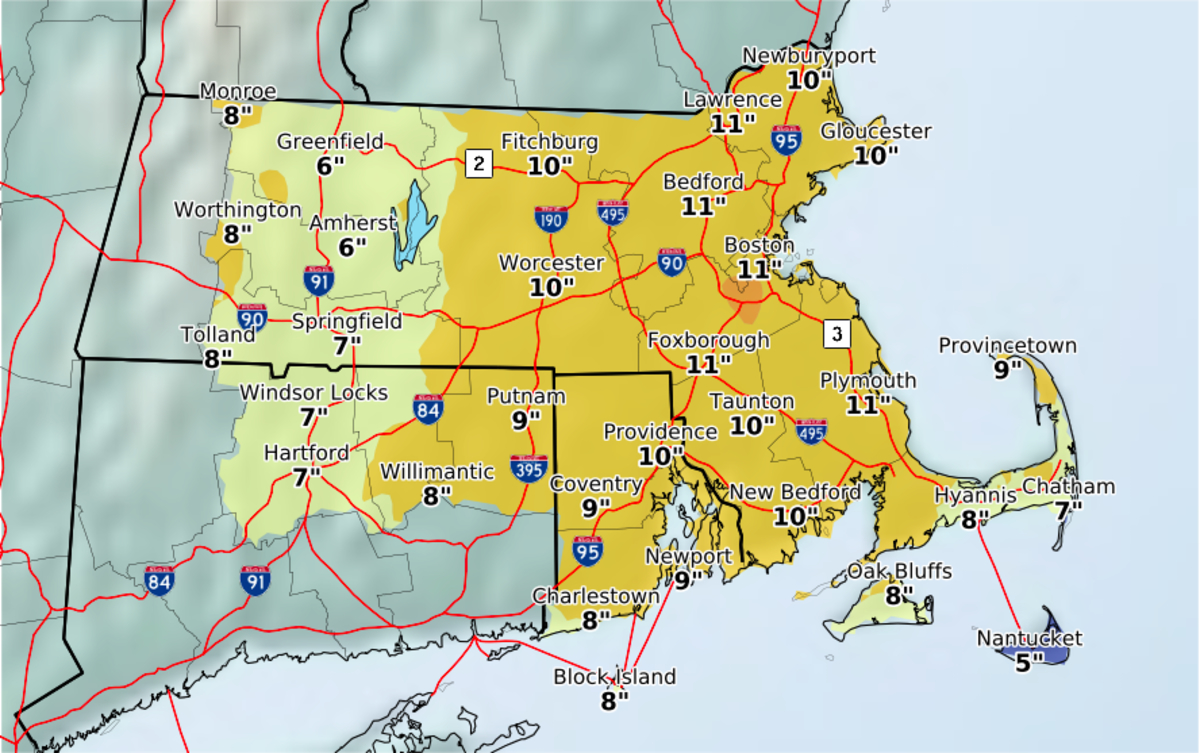 RI Weather Forecast: Up To 10 Inches In Monday Nor'easter