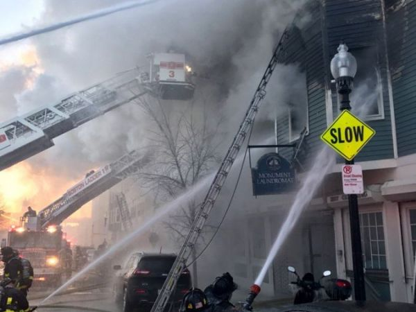 Six-alarm fire in Charlestown displaces residents in freezing temps