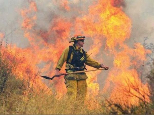 No homes threatened by forest fire above Los Angeles
