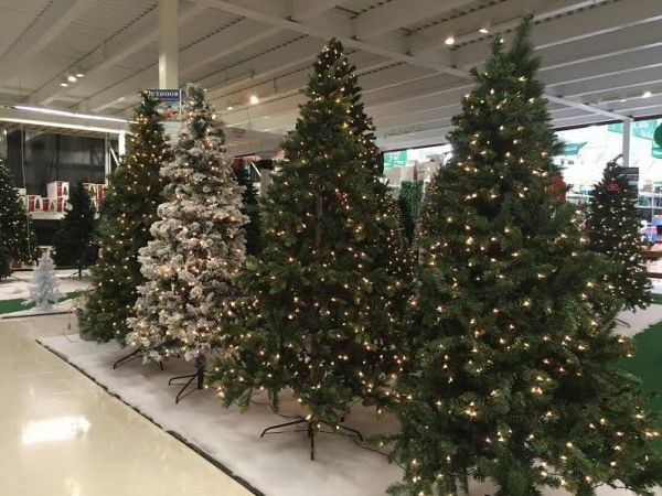 Ack! I Just Saw My First Retail Christmas Tree Display And