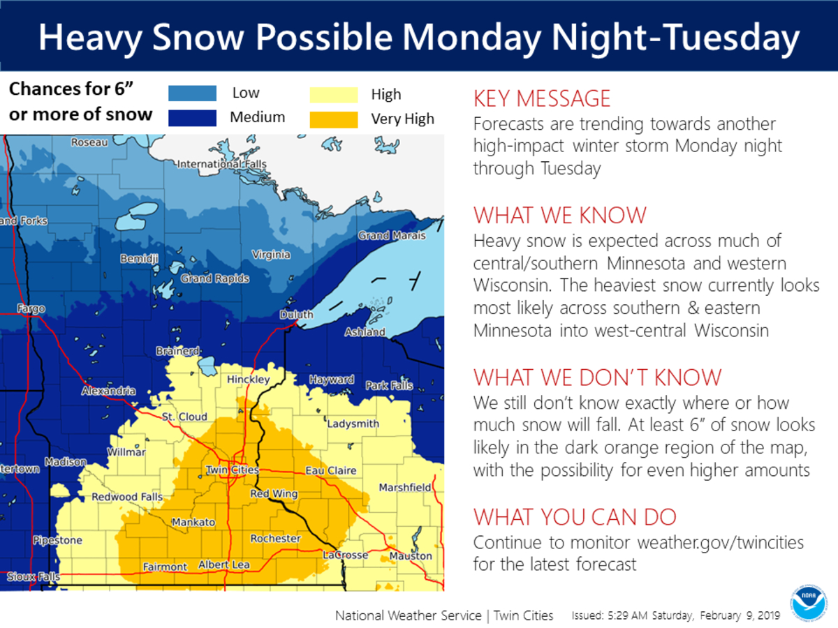 'High-Impact' Snowstorm Headed For Twin Cities