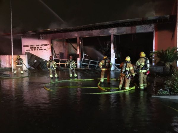 Buena Park fire station burns, 3 fire vehicles and a boat destroyed