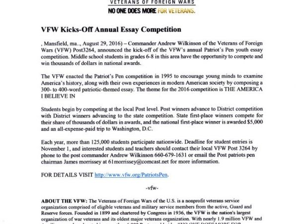 patriots pen essay contest prizes Vfw voice of democracy and patriot's pen pen essay contest compete for awards and prizes cumulatively, the.