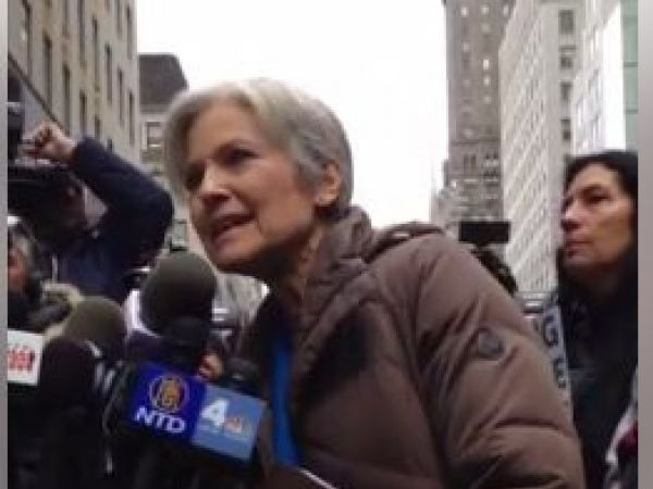 Jill Stein, outside Trump Tower, vows to 'escalate' recount fight