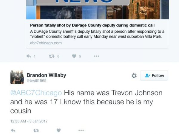 Strangers, Supporters, Family React to Trevon Johnson's Death on Social Media