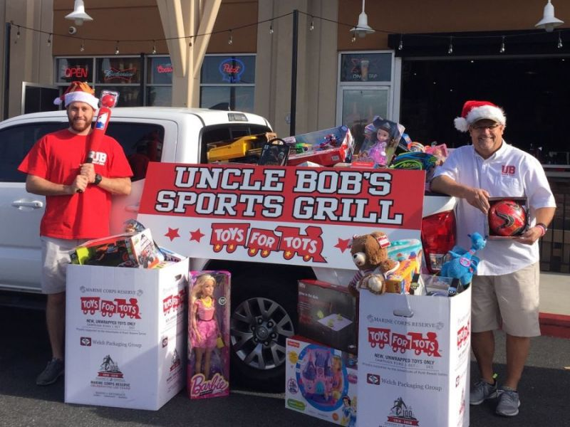 Toys For Tots Thank You : Uncle bob s sports bar toys for tots thank you temecula