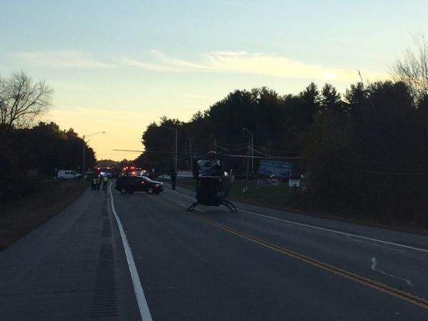 Woman killed in three-car crash on Route 111 in Salem
