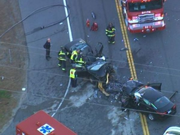 Killed, 4 Injured in 3-Vehicle Crash on New Hampshire Roadway