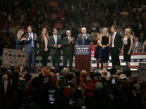VIDEO: Donald Trump and Mike Pence Host GOTV Rally in Manchester NH ...