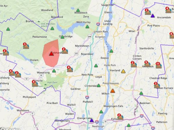 map poughkeepsie ny with Winds Cause Widespread Central Hudson Power Outages on West Brentwood further Map Of Nyc Metro Pictures further Ronkonkoma as well Kingston red hook likewise United States Post Office  Beacon  New York.
