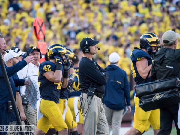 Jim Harbaugh: Jabrill Peppers 'on the same dance floor' as Jim Thorpe