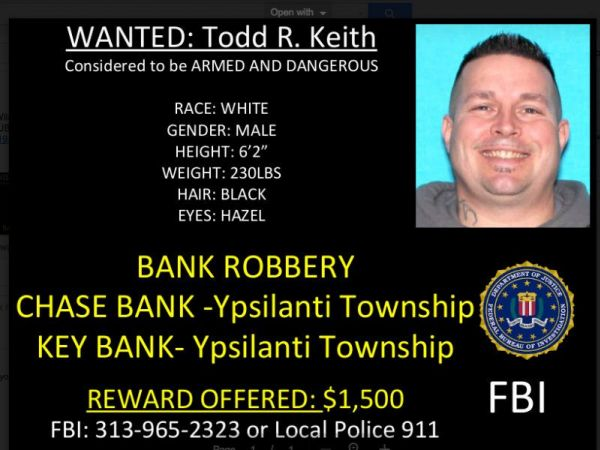 Federal Bureau of Investigation seeks public's help finding bank robbery suspect