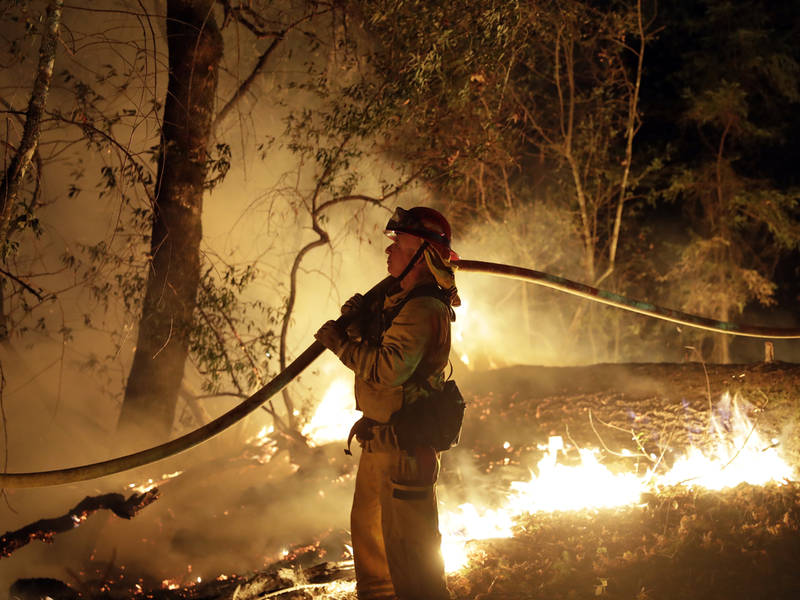 California Wildfires Latest 40 Confirmed Dead Winds Lessen As - Fire-coffee-table-by-axel-schaefer