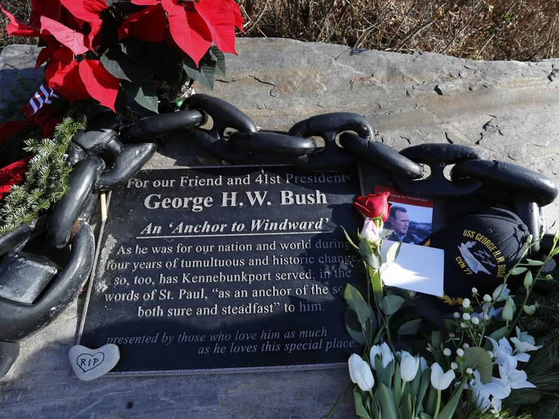 George H W Bush Public Visitation Funeral Burial Details