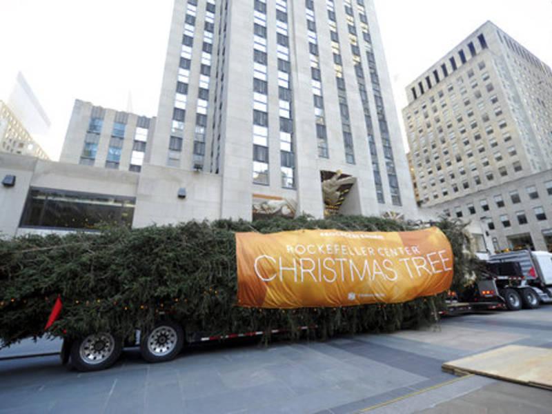 Rockefeller Christmas Tree Arrives In Manhattan For 2017 ...