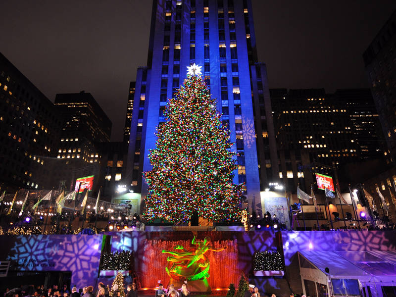 rockefeller center selects christmas tree midtown manhattan ny patch