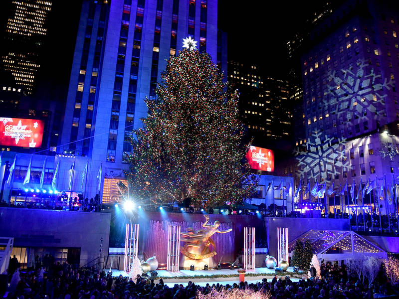 See It: Rockefeller Center Tree Lit Up For 2017 Season | Midtown Manhattan, NY Patch