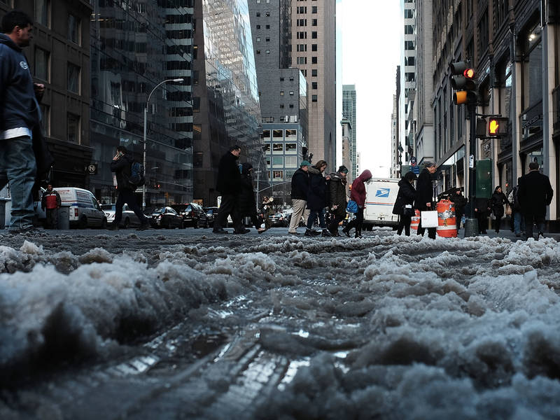 nyc weather forecast  deep freeze to end with snow