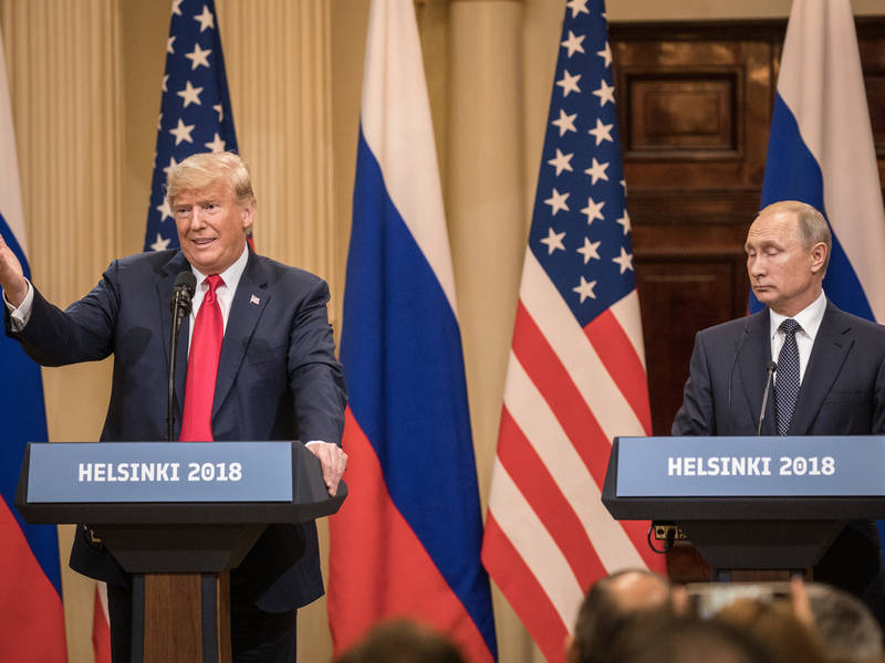Russian Attack On US Election Trump Blames America First Again