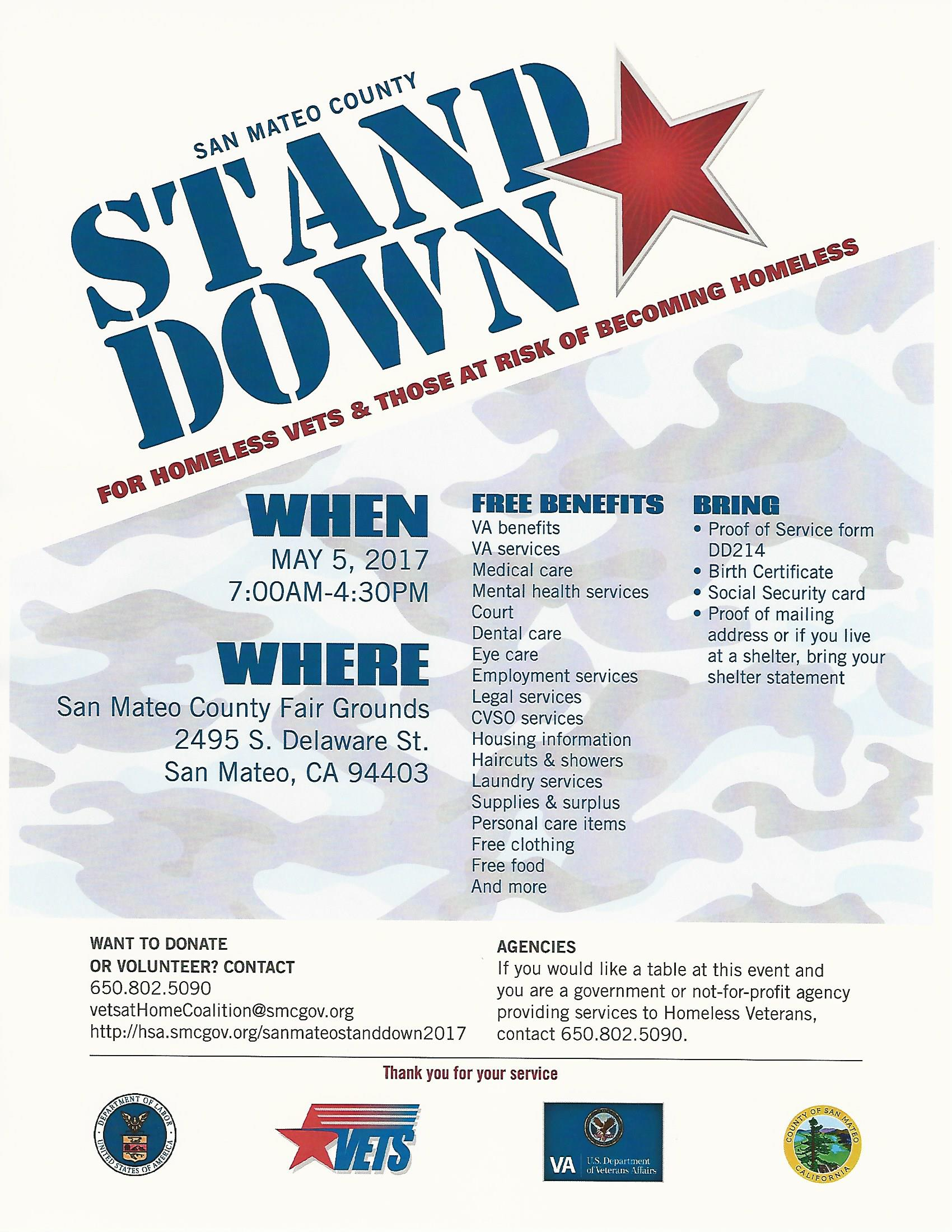 Riechel Reports SAVE May 5th 2017 Stand Down Vet Event