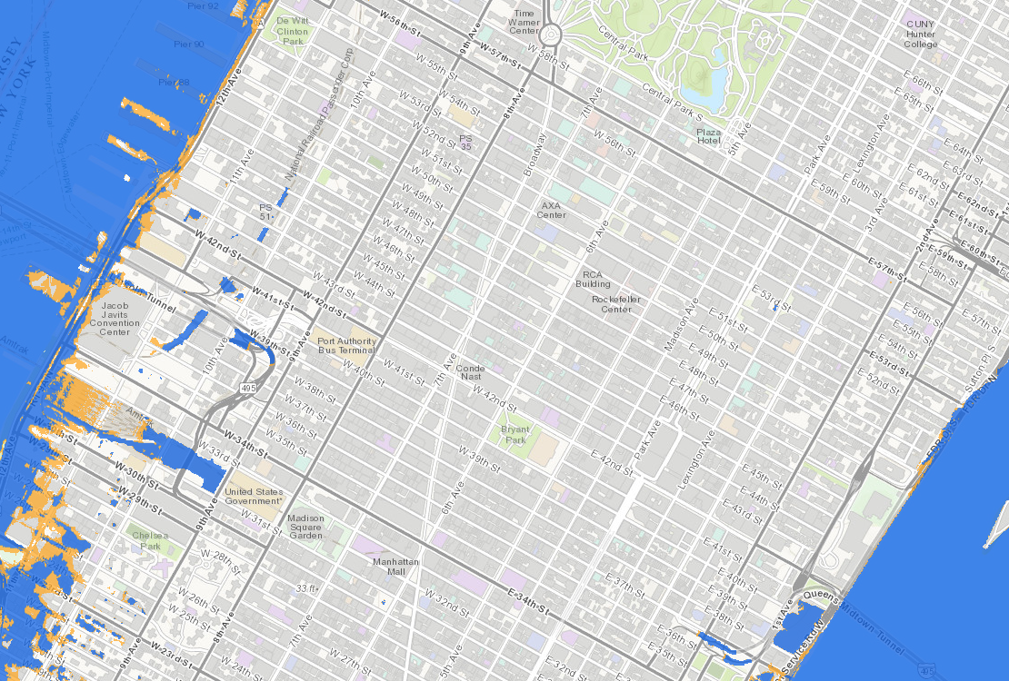 NYC Sea Level Map State Adopts Official ClimateChange Predictions