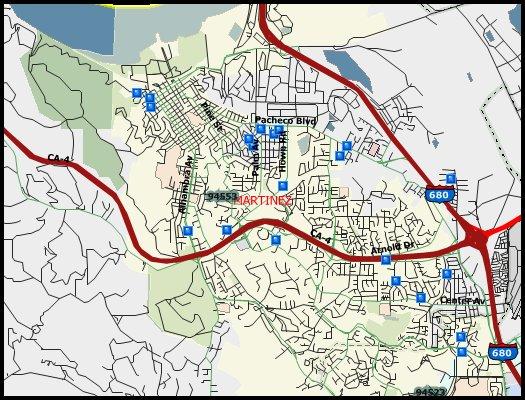 42 Sex Offenders In Martinez 2016 Halloween Registry Map Martinez
