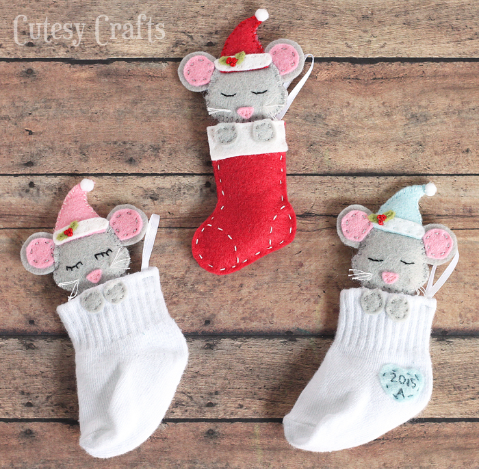 80 personalized christmas ornaments anyone can craft across baby sock diy christmas ornaments solutioingenieria Choice Image