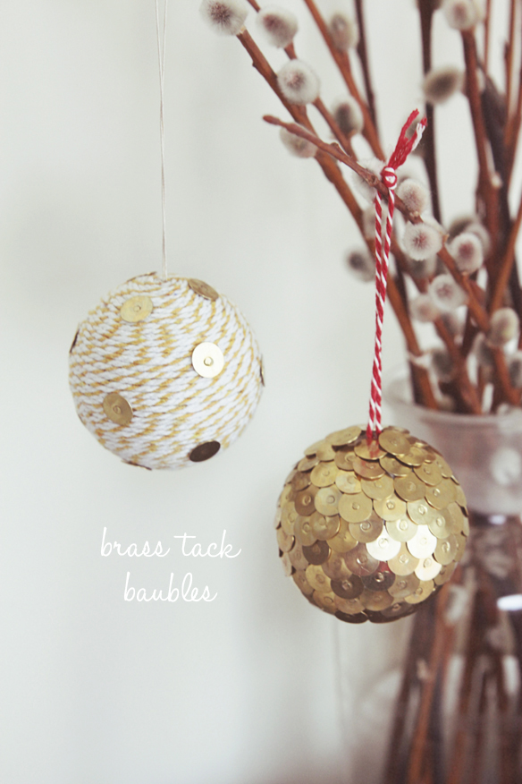 80 personalized christmas ornaments anyone can craft across diy brass tack baubles solutioingenieria Images