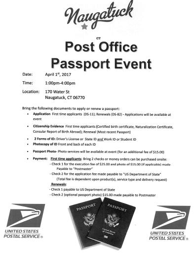 Naugatuck hosts post office passport event naugatuck ct patch contact brian falcha manager customer service naugatuck 203 729 3421 for more information ccuart Choice Image