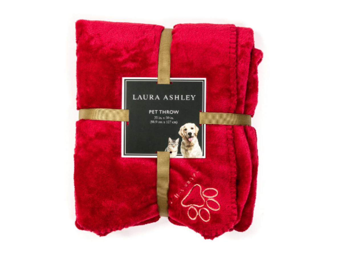 laura ashley reversible micro fur pet dog bed blanket throw