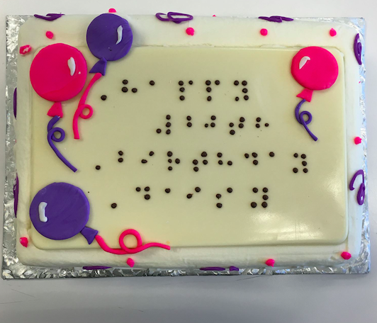 Donnas Cakes Makes Custom Braille Cakes West Roxbury MA Patch