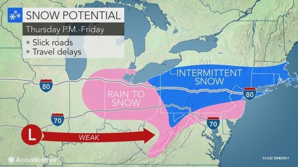 NJ Weather Accumulating Snow Possible Hazardous Weather