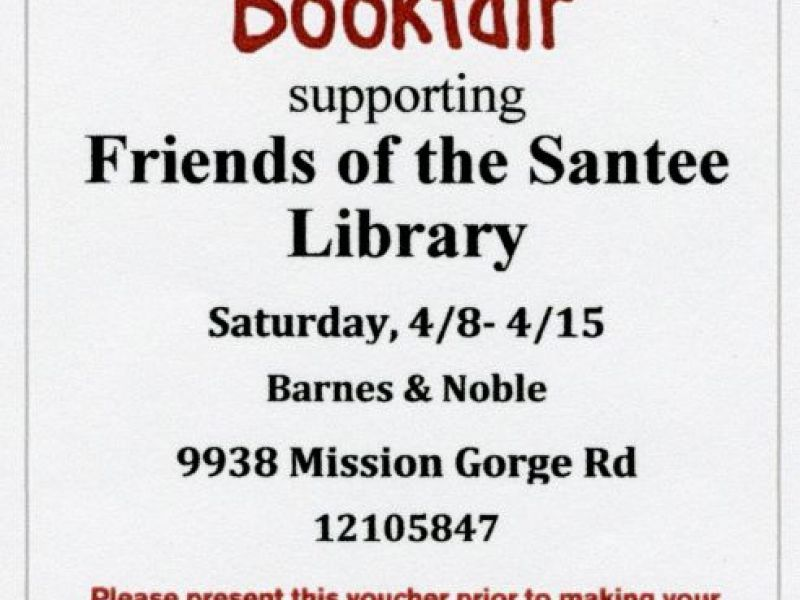 Barnes & Noble Bookfair with Friends of Santee Library ...
