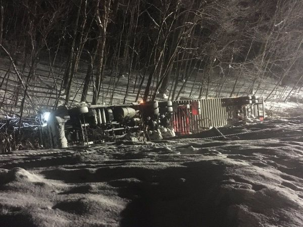 Police provide update on I-84 crash of truck carrying hazardous chemicals