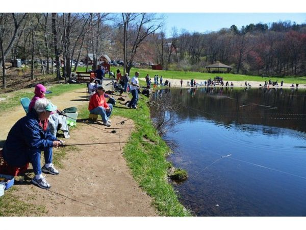 Valley falls stocked for opening day vernon ct patch for Ct fishing season