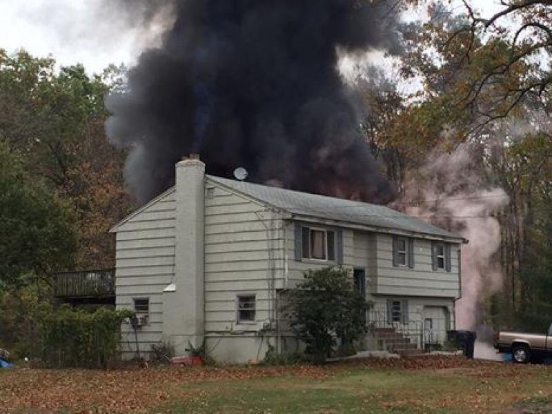 Garage destroyed in east windsor fire video
