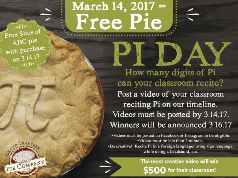 free pie on pi day 2020