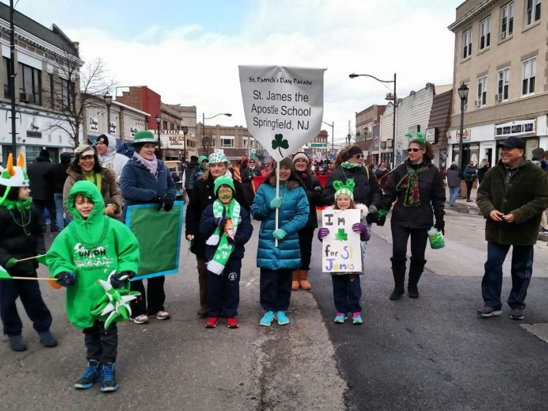 Saint James the Apostle School Marches in Union County Saint Patrick's Day  Parade. SPRINGFIELD ...