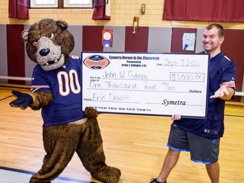 john w garvy elementary school teacher honored as symetra hero in