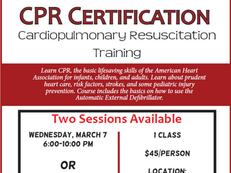 Get Certified In Cpr Andover Ma Patch