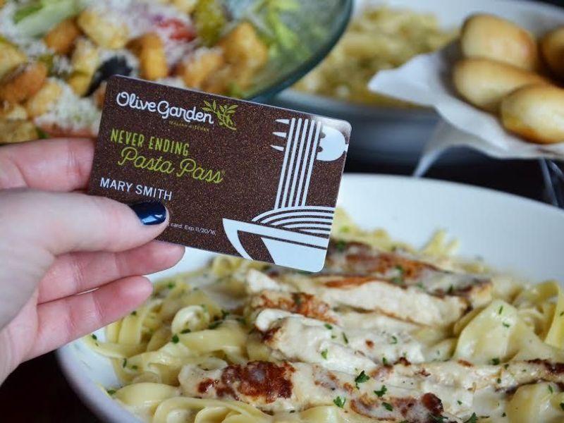 Olive Garden Offering 21 000 Never Ending Pasta Passes Brandon Fl Patch